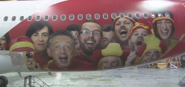 Avión de la Selección española de Fútbol - FÚTBOLSELECCIÓN