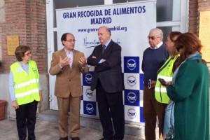 Del Bosque en el Banco de Alimentos de Madrid