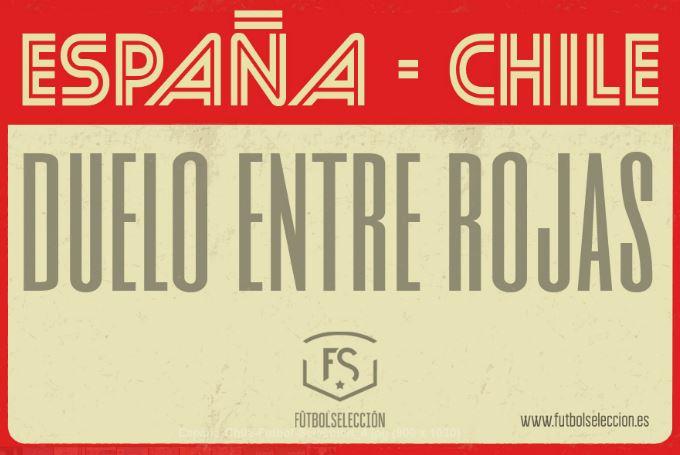 España - Chile Duelo entre Rojas