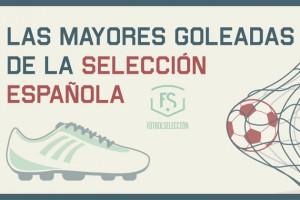 Las mayores goleadas de la Selección española - FÚTBOLSELECCIÓN