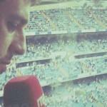 Antonio Muelas en cabina de retransmisión de radio - RNE - FÚTBOLSELECCIÓN