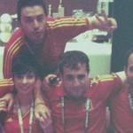 Antonio Muelas con el Equipo de la Selección - RTVE - RNE- FÚTBOLSELECCIÓN