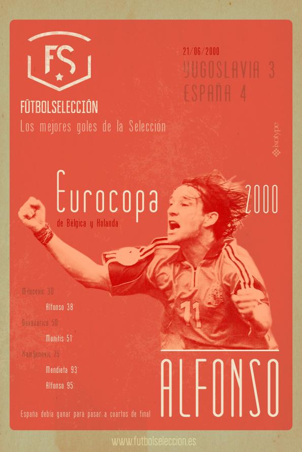 Goles míticos de la Selección española: Gol de Alfonso, Eurocopa 2000 - FÚTBOLSELECCIÓN