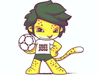 Las mascotas de los Mundiales de Fútbol - Zakumi Sudáfrica 2010 - FÚTBOLSELECCIÓN